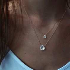 14kt gold and diamond petite triangle champagne topaz necklace – Luna Skye by Samantha Conn