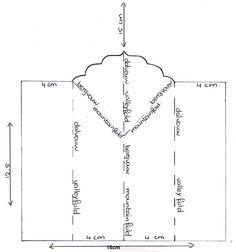 het patroon van onderstaande kaart. 15cm is de totale hoogte. The template for the card below. 15 cm is the total hight.
