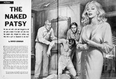 If you're gonna be a patsy, is it better or worse to be a naked one? ... MAN'S LIFE, July 1958. Illustration by Walter Popp for a story by pulp veteran Grover Brinkman. Via my men's #pulp adventure FB group -> https://www.facebook.com/groups/187984097012/