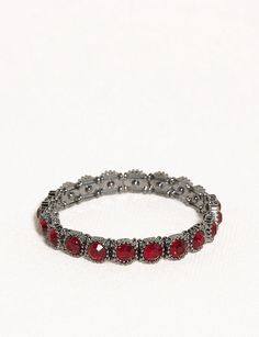 Red Stone Stretch Bracelet | dressbarn