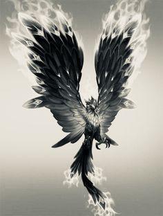 Crow Tattoo Design, Phoenix Tattoo Design, Tattoo Designs, Phoenix Bird Tattoos, Nature Tattoo Sleeve, Nature Tattoos, Bull Tattoos, Body Art Tattoos, Side Piece Tattoos