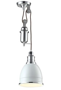 With a vintage industrial look the Carolton pendant is crafted of a large spun shade  sc 1 st  Pinterest & Schots Evans Industrial Metal Pendant Ceiling Lights - Brushed ...