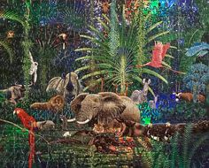"""""""Emerald Dreams"""" 500 pieces  20"""" x 16"""" Art by Hiroo Isono? By Ceaco Puzzles"""