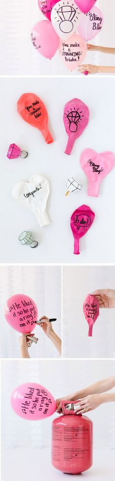 Sweet Balloon Wishes | Click Pic for 18 DIY Bridal Shower Party Ideas on a Budget | DIY Engagement Party Decorations Ideas Decor