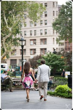 NYC Engagement Photography: Robert and Kathleen Photographers | Manhattan: Engagement Session Photos | Film
