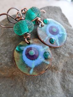 Sparkle in Her Eyes ... Lampwork and Enameled by juliethelen