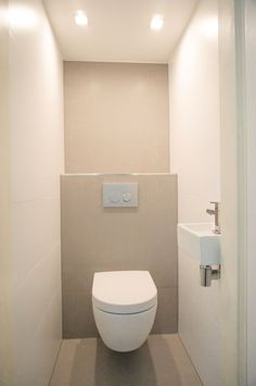 Most Popular Small Bathroom Remodel Ideas on a Budget in 2018 This beautiful look was created with cool colors, and a change of layout. Bathroom Toilets, Laundry In Bathroom, Bathroom Renos, Small Bathroom, Half Bathrooms, Bathroom Marble, Small Toilet Room, Guest Toilet, Downstairs Toilet