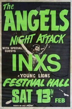 1982 the Angels, INXS concert poster