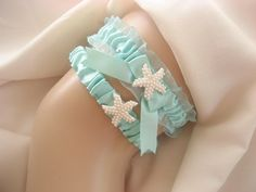 Beach Wedding Garter Set   Starfish Garter by nanarosedesigns, $29.00