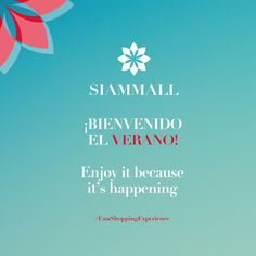Enjoy it because it's happening: Hello #summer! #CCSiamMall