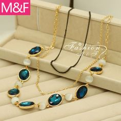 K142 beads long necklace accessories necklace short design female necklace US $24.26