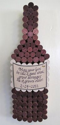 """Handmade Wine Cork WIne Bottle Cork Board with Hand Cut Label with Personalized Calligraphy Quote, Add Date for Perfect Wedding Gift. $85.00, via Etsy."""" data-componentType=""""MODAL_PIN"""