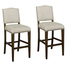 Have to have it. AHB Worthington Counter Stool - Coastal  Gray with Sahara Sand Linen Upholstery - Set of 2 - $739.9 @hayneedle.com - I think these are really nice looking.  I think you can have 4 and be fine.
