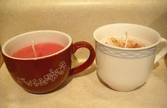 Tea Cup Candles - Little House Living  super cute to do with pretty teacups- doing this for my mom