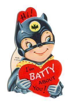 Vintage Batman Child Valentines