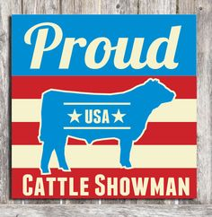 Cattle Showman Wood Sign by ZietlowsCustomSigns on Etsy, $26.00