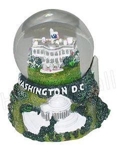 Washington DC miniature snow globe featuring the US White House
