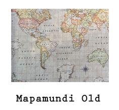 tela resinada Mapamundi Old . Disponible en todos los productos Arethaju
