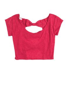 solid triple bow back top from delias- love the back!