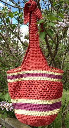 Crocheted Market Bag by dianelaugustin | Crocheting Pattern - Looking for your next project? You're going to love Crocheted Market Bag by designer dianelaugustin. - via @Craftsy