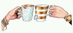 Tea and coffee between friends