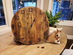 "This 15"" reclaimed wood clock is perfect for the modern farmhouse, the eclectic home or one with a rustic industrial feel."
