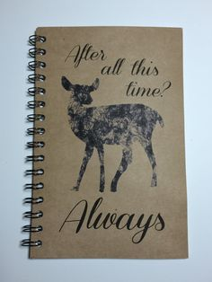 Always, Harry Potter Inspired Notebook, Harry Potter Journal, Notebook, Journal, gift, Harry Potter, Deer, Fandom, Sketchbook, Snape