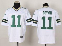 Nike Green Bay Packers #11 Jarrett Boykin White Elite Jersey