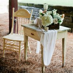 Vintage Reception Props- I love creating little whimsical areas for the guests