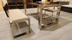 next-fa-fém-étkező-asztal-szék-pad Fa, Table, Furniture, Home Decor, Decoration Home, Room Decor, Tables, Home Furnishings, Home Interior Design