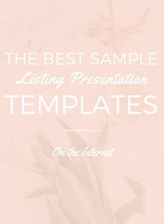 You can find lots of sample listing presentations online but knowing what to include and how to present is hard. This sample is...