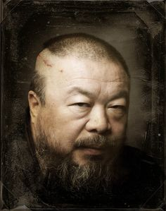 ai weiwei | self portrait...Most famous artist in China - this must be from after the police beat him and he had to have brain surgery to relieve swelling in his brain
