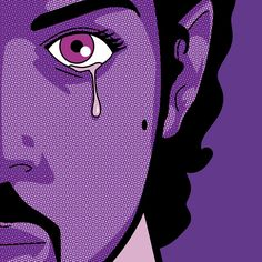 Tribute - Purple Tear by Grégoire Guillemin Foto Gif, The Artist Prince, Pop Art Wallpaper, Iphone Wallpaper, Prince Rogers Nelson, Purple Reign, Beautiful One, Secret Life, Unique Art