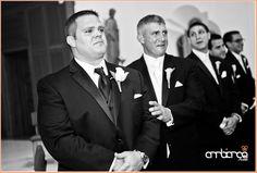 Emotional Groom #wedding #ceremony #church #groom