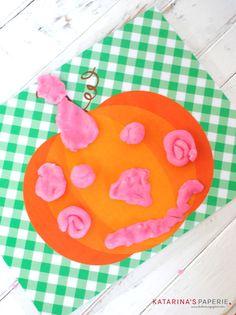Free Printable Pumpkin Play Dough Mat by Katarina's Paperie