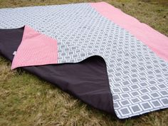 Classic Outdoor Waterproof Picnic Blanket Rug Red by Poppiezlove