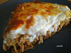 Παστίτσιο από μακαρόνια με κιμά που περίσσεψαν Lasagna, Ethnic Recipes, Food, Essen, Meals, Yemek, Lasagne, Eten