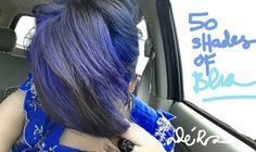 My current blue hair #aftermidnight #ultraviolet