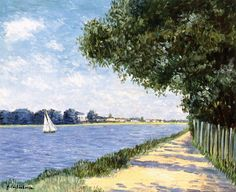 The Banks of the Seine at Petit Gennevilliers - Gustave Caillebotte - circa 1882-1883