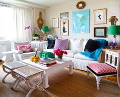 bright living room via high gloss