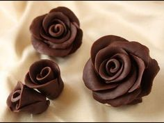 Receita de Chocolate para Modelar Rosas - YouTube