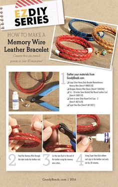 GoodyBeads | Blog: How to make a memory wire leather bracelet