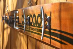 casCade an upcycled vintage water ski towel rack by upCycledDesignsBoise