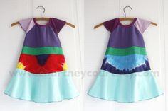 rainbow #courtneycourtney #eco #upcycled #recycled #repurposed #tshirt #vintage #dress #girls #unique #clothing #ooak #designer #upscale #rainbow #tiedye #colorful #flutter