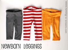 Running With Scissors: Newborn Leggings
