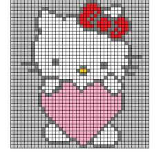 <3 Image for a dishcloth I think it was but it'd be cool to cross-stitch this!