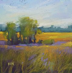 'Dream Fields'      6x6      pastel      ©Karen Margulis  sold   Big things come in small packages. I came back from my...