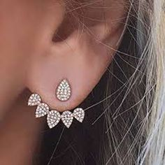 Product Information Product Type: Pair of Earring Jackets Gauge Size: Standard Ear Lobe - 20 Gauge (1.2mm) Womens Earrings Earring Jacket Jackets in Gold Silve