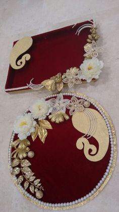 Indian Wedding Tray Decoration Pearl Tray Engagement Tray  Wedding Decorations  Pinterest