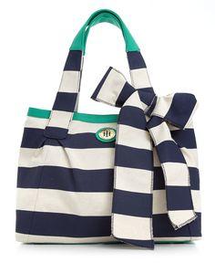 Tommy Hilfiger Handbag, High Tied Stripe Tote - Tote Bags - Handbags & Accessories - Macys